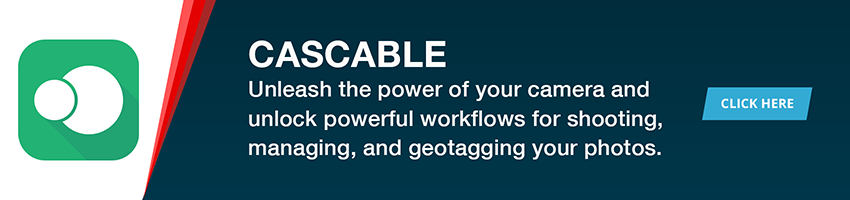 Cascable unleashes the power of your camera and unlocks powerful workflows for shooting, managing, and geotagging your photos.