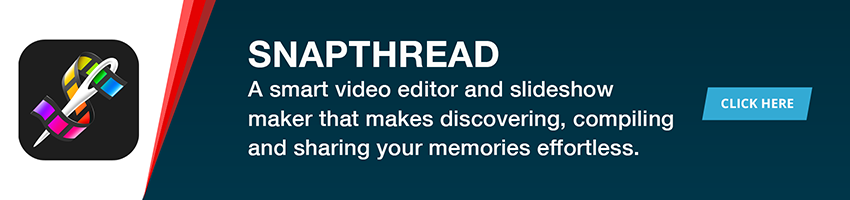 Snapthread is a casual video editor and slideshow maker that makes discovering, compiling and sharing your favorite memories effortless.