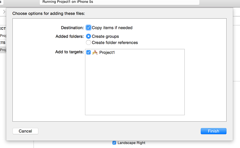 When you add items to Xcode, make sure you choose Create Folder References.