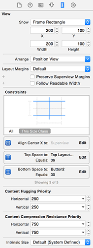 Use the size inspector to enter exact values for X, Y, width and height – it's much faster than dragging things around.