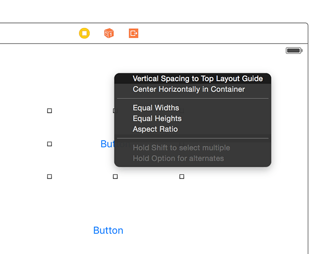 Xcode will ask you which Auto Layout constraints you want to make.