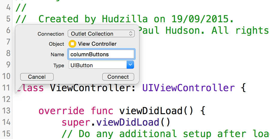 Creating an IBOutletCollection in Interface Builder puts all your outlets into a single array.