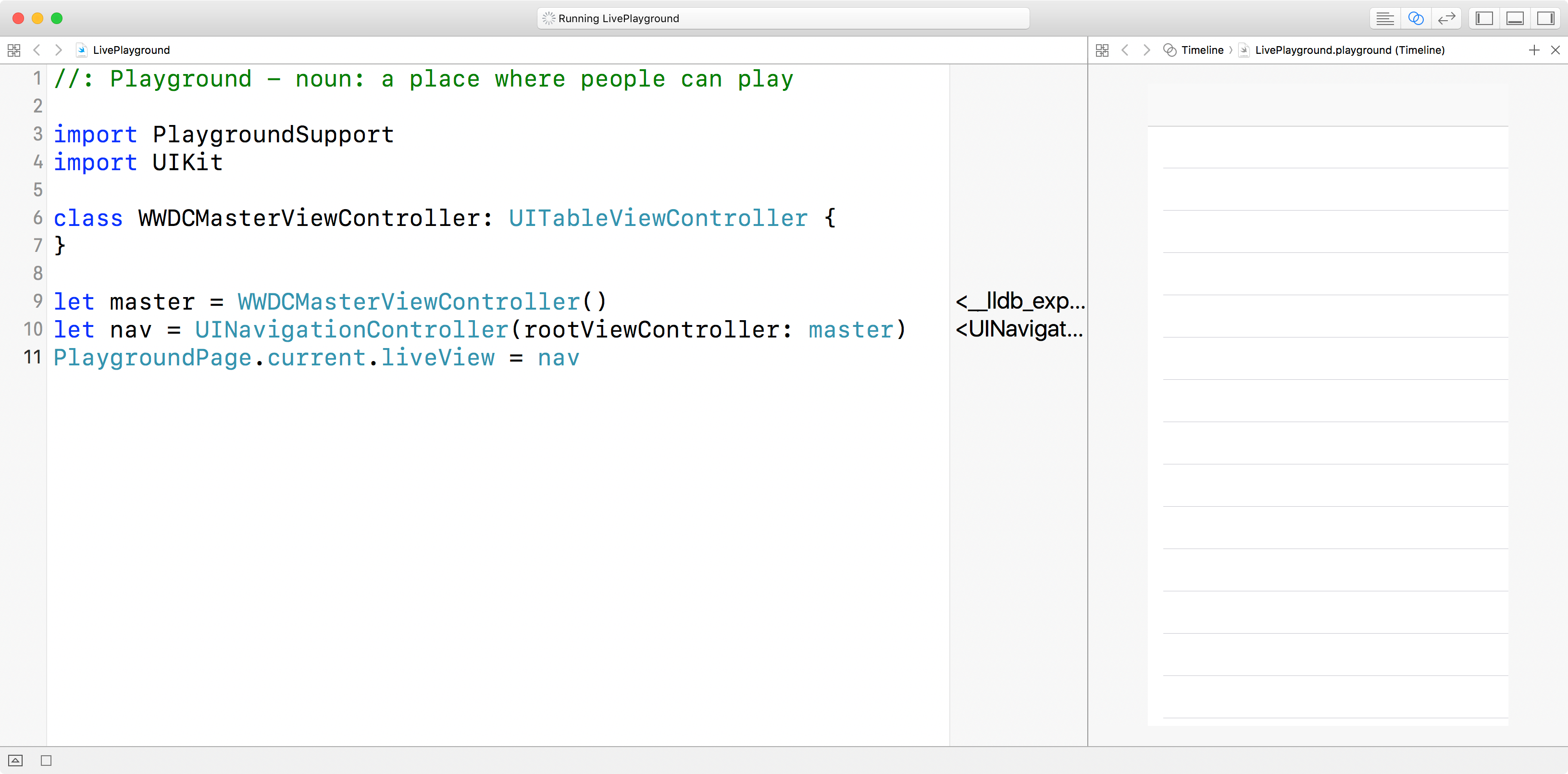 How to create live playgrounds in Xcode - free Swift 5 0 example